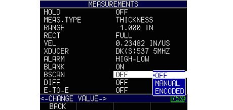 UT thickness gage Danatronics ECHO 09 B-Scan